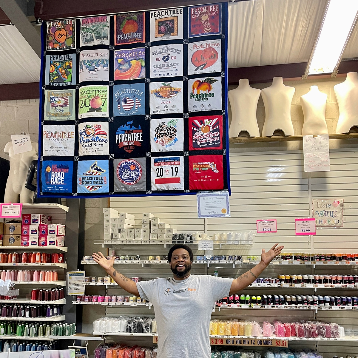 Peachtree Roadrace - Quilts by Big Wes